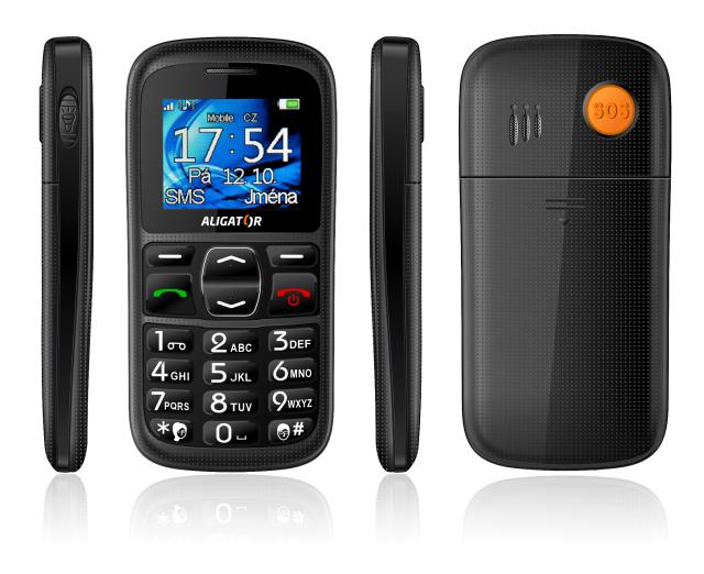ALIGATOR A420 Telefon SENIOR black