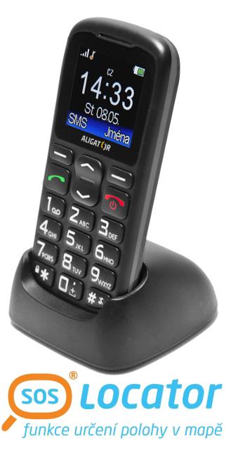 ALIGATOR A430 mobilní telefon senior černo šedý