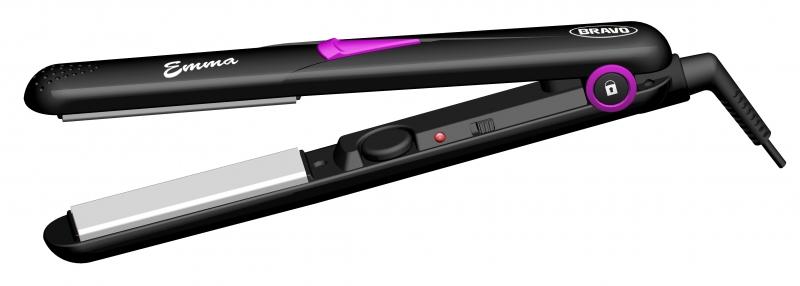 BRAVO B 4327 EMMA žehlička na vlasy černo-fial