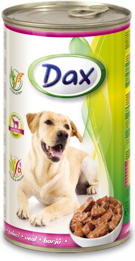 DAX konzerva pro psy 1240g s telecím