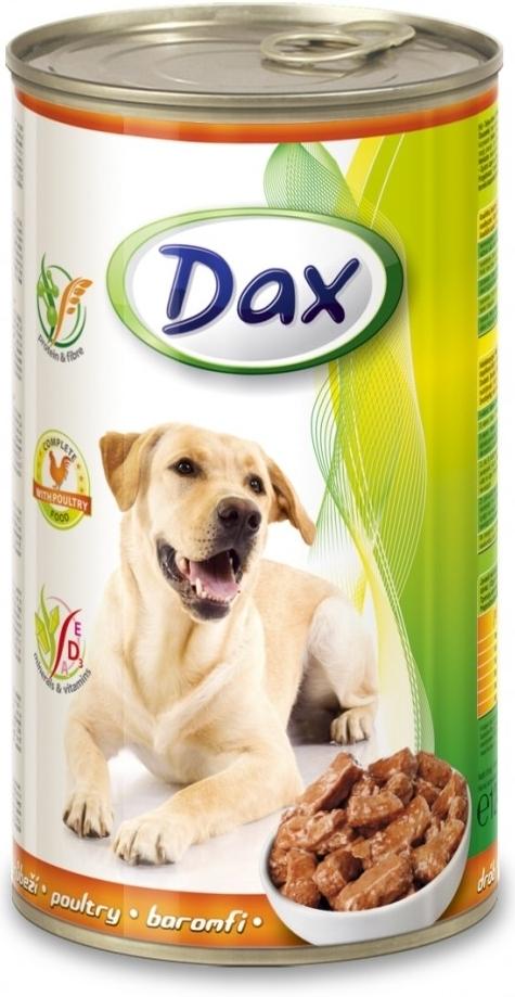 DAX konzerva pro psy 1240g drůbeží