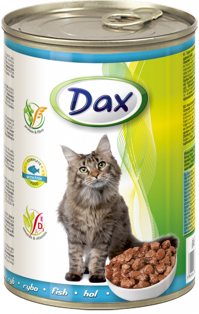 DAX konzerva pro kočky 415g ryba