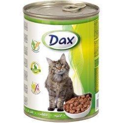 DAX konzerva pro kočky 415g králík