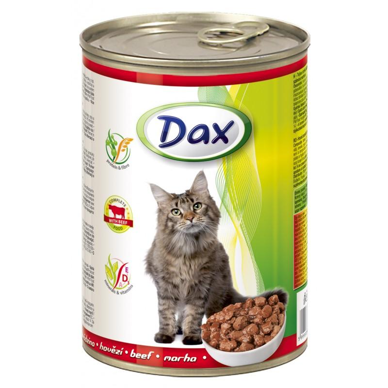 DAX konzerva pro kočky 415g hovězí
