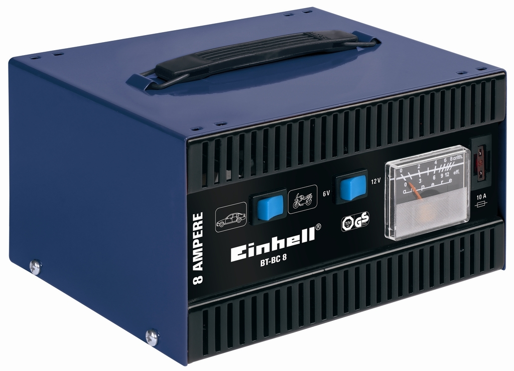 EINHELL BT-BC 8 nabíječka baterií blue