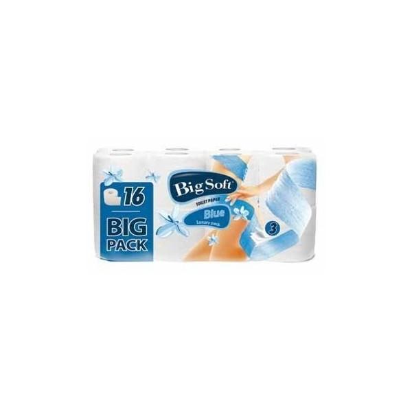 BIG SOFT Toaletní papír Blue 16 rolí 3vrstvý