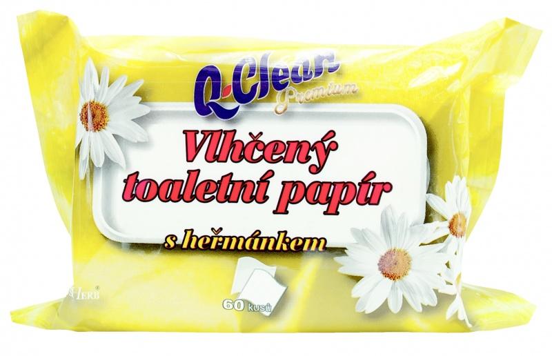 Q CLEAN Vlhčený toaletní papír s heřmánkem 60ks