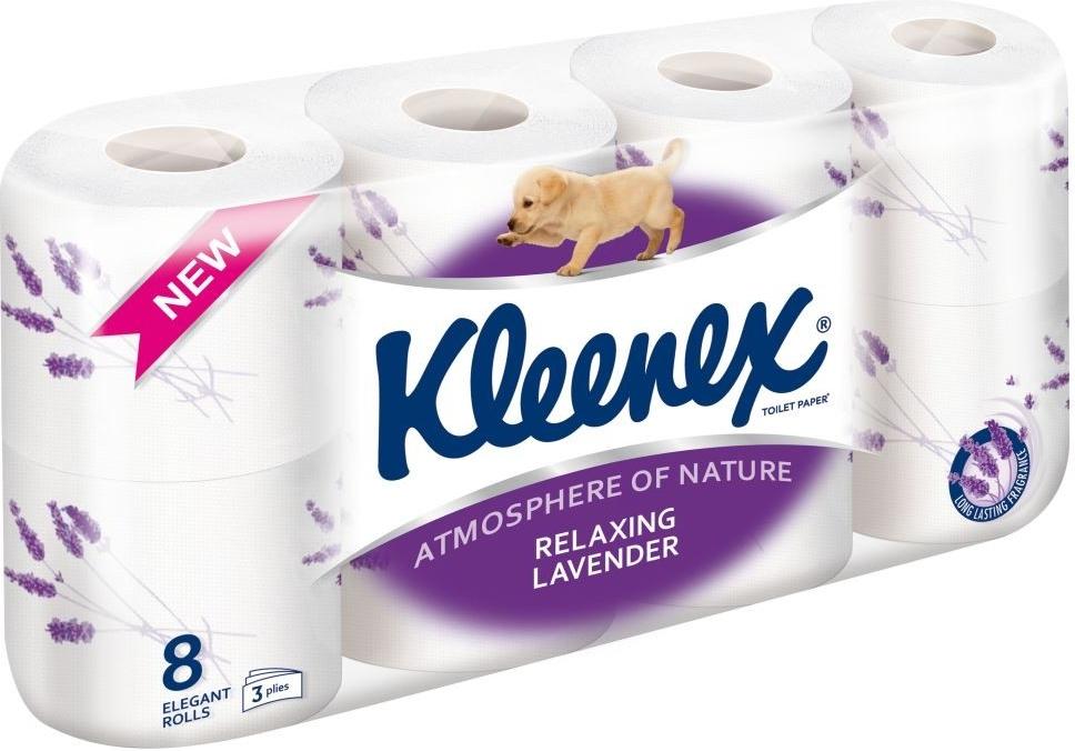 KLEENEX Toaletní papír Levandule 8 rolí