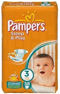 PAMPERS Sleep and Play midi 4-9kg 58ks