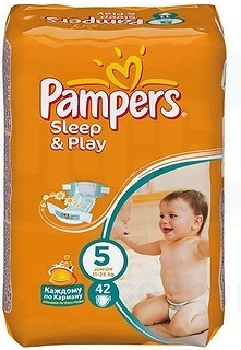 PAMPERS Sleep and Play junior 11-18kg 42ks