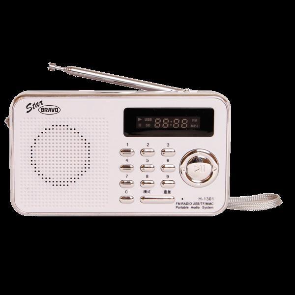 BRAVO B 6018 STAR rádio FM digitální bílé