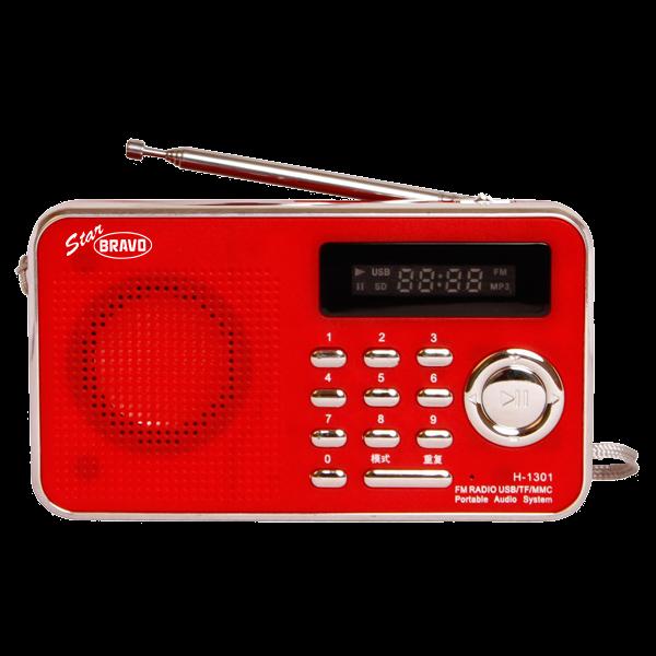 BRAVO B 6018 STAR rádio FM digitální červené