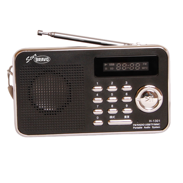 BRAVO B 6018 STAR rádio FM digitální černé