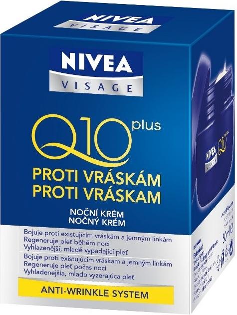 NIVEA VISAGE Q10 noční krém proti vráskám 50ml