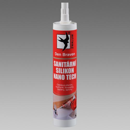 DEN BRAVEN Sanitární silikon 310ml RL transparentní