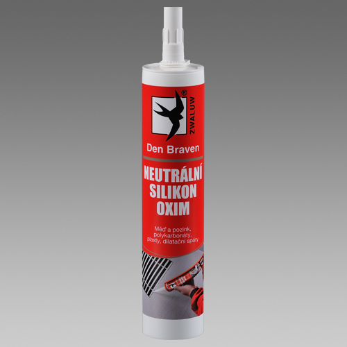 DEN BRAVEN Neutrální silikon OXIM 310ml RL transp.