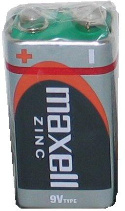 MAXELL 6F22 1S Baterie Zinc 1x9V obyčejná