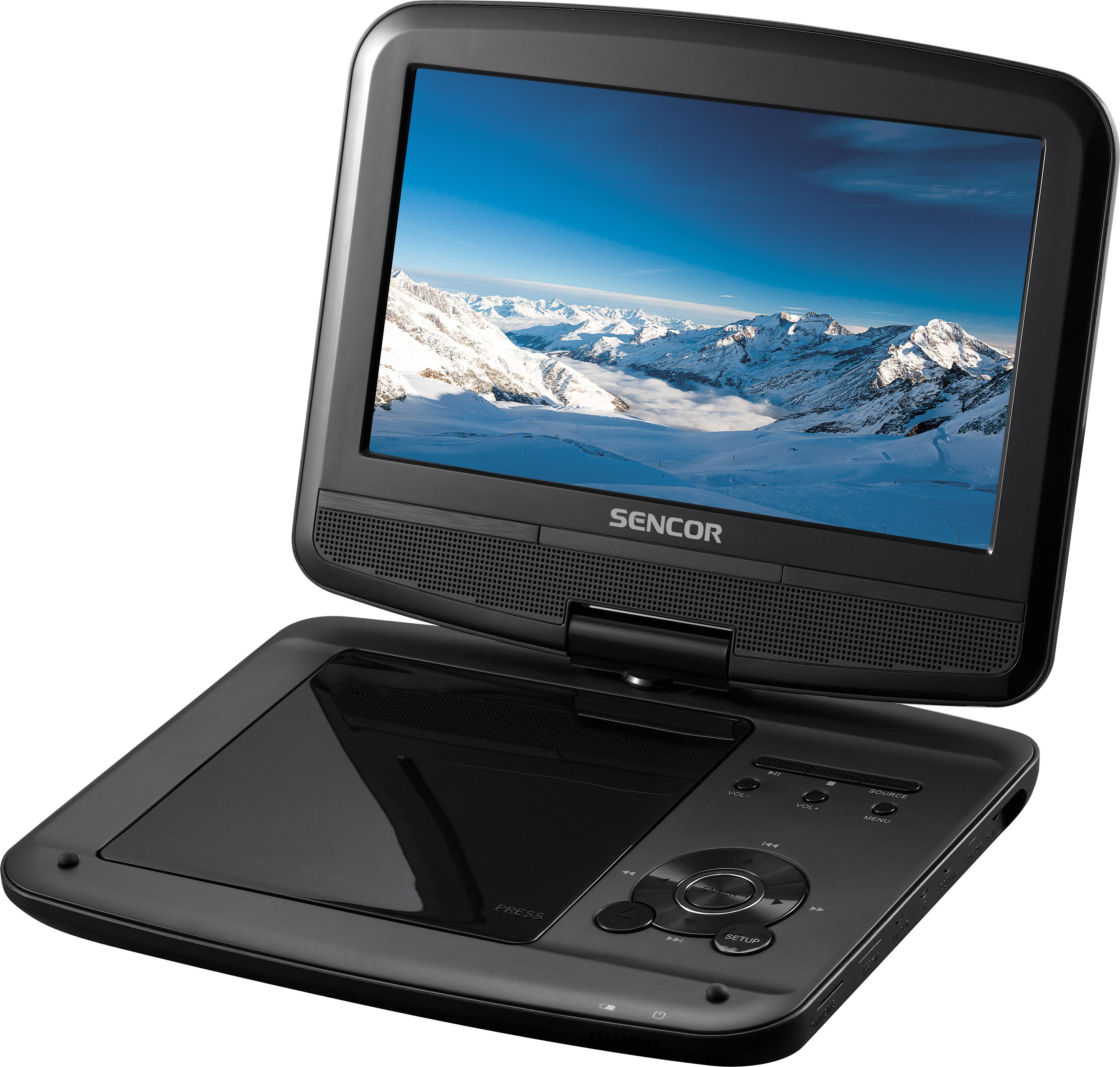SENCOR SPV 7914T přenosné DVD+DVB-T černý 23cm