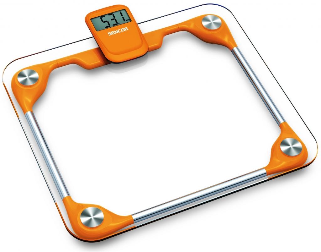SENCOR SBS 2811OR Osobní váha oranžová