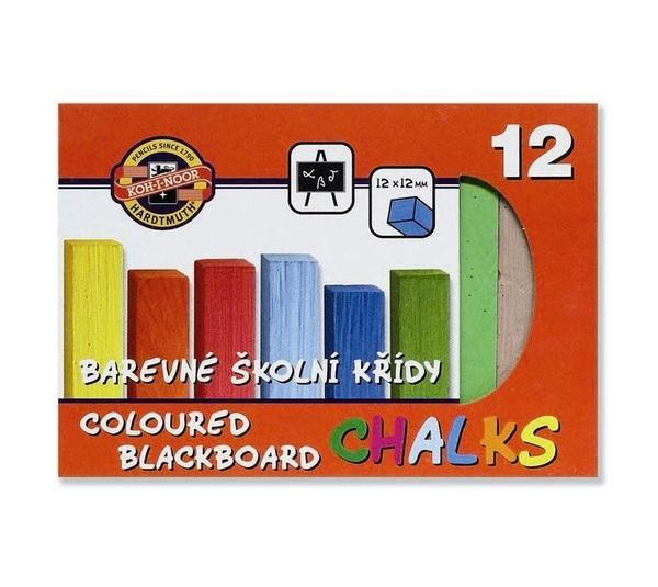 KŘÍDY Barevné školní 12ks