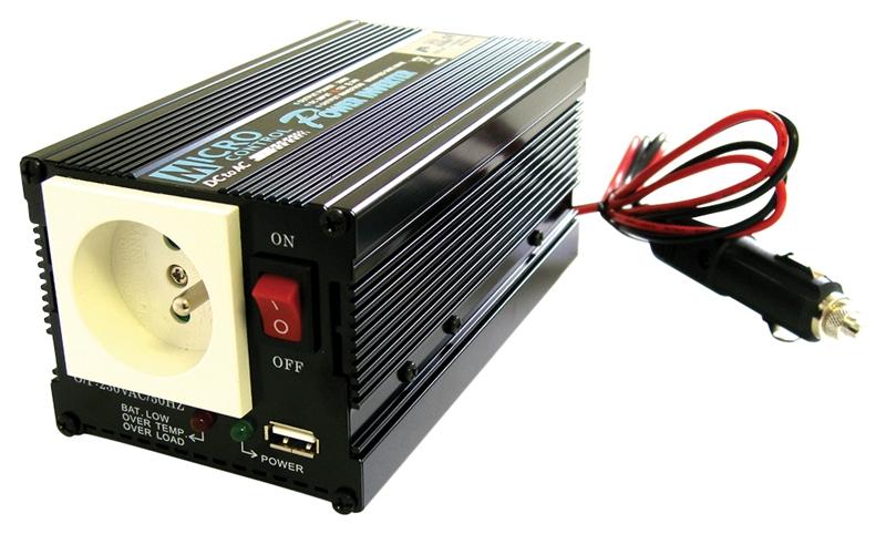 měnič napětí 12-230 300W + USB
