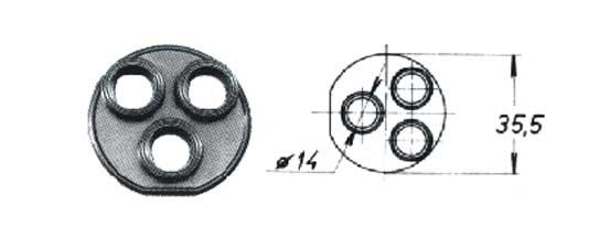 Těsnění pákové baterie T50-01