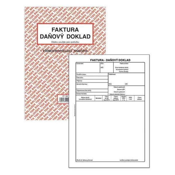 FAKTURA Daňový doklad A5 PT199