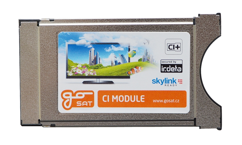 CI slot GoSAT Irdeto CI+ satelitní modul