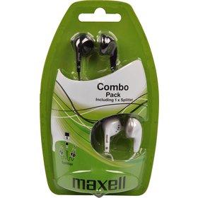 MAXELL EBC 2 sluchátka pecková 2v1 černá a bílá