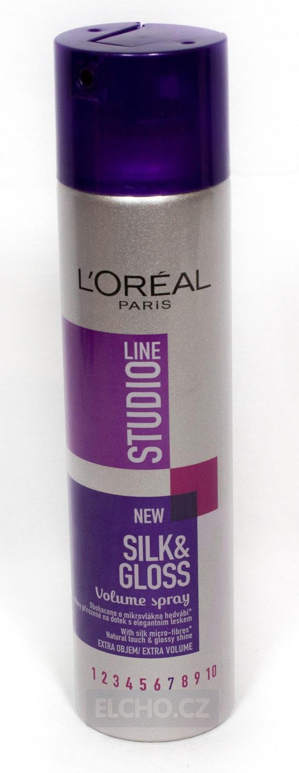 LOREAL STUDIO Silk&Gloss lak na vlasy 250ml