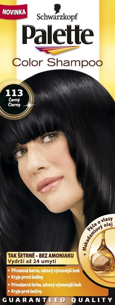 PALETTE Color shampoo 113 černý