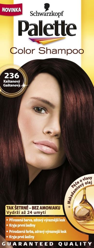 PALETTE Color shampoo 236 kaštanový