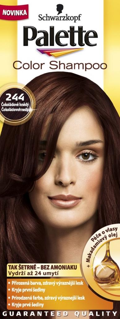 PALETTE Color shampoo 244 čokoládově hnědý