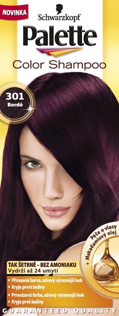 PALETTE Color shampoo 301 bordó