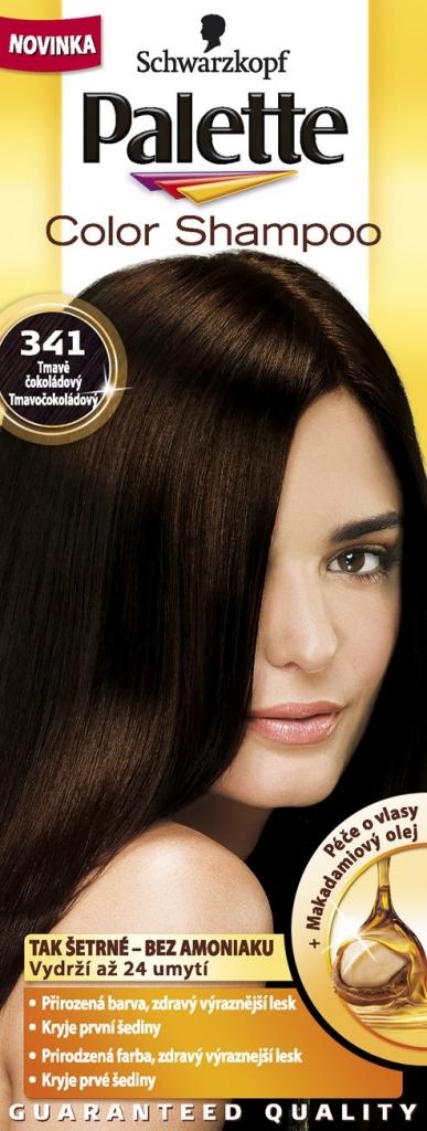PALETTE Color shampoo 341 čokoládový