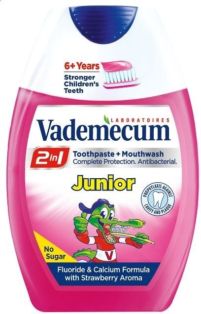 VADEMECUM Zubní pasta 2v1 Junior jahoda 75ml