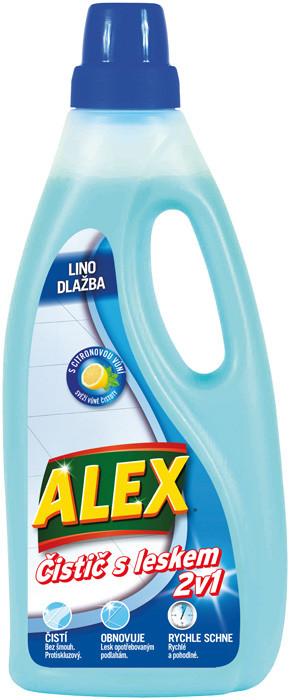 ALEX Čistič s leskem 2v1na lino citrón 750ml