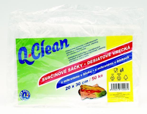Q CLEAN Svačinové sáčky 20x30cm 50ks