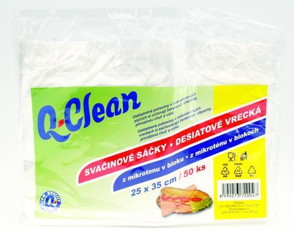 Q CLEAN Svačinové sáčky 25x35cm 50ks