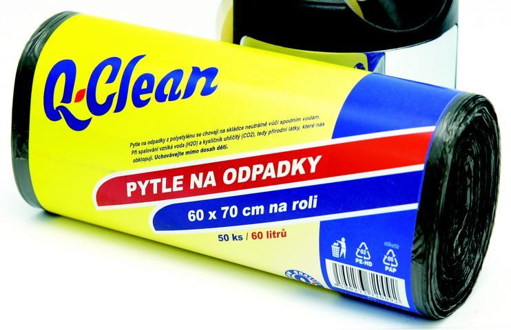 Q CLEAN Odpadkové pytle 60x70cm 60l