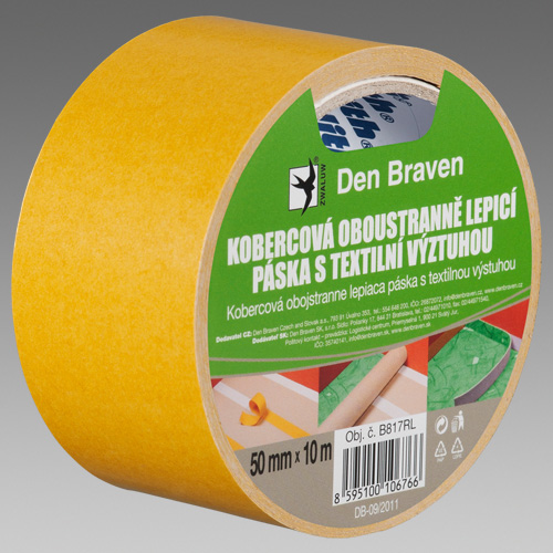 DEN BRAVEN Kobercová páska s textilií 50mm x 25m