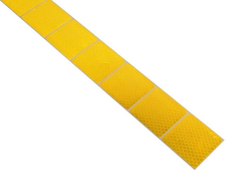 Reflexní páska samolepící dělená 1m x 5cm žlutá