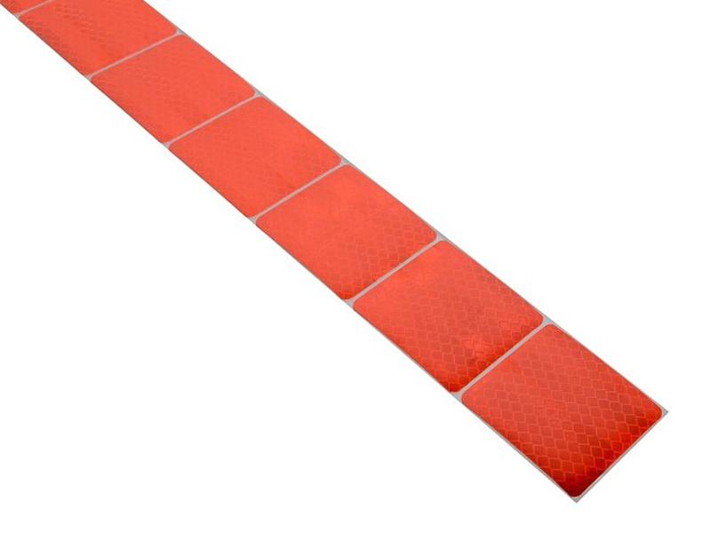 Reflexní páska samolepící dělená 1m x 5cm červená