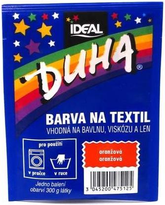 IDEAL Duha barva na textil oranžová 15g