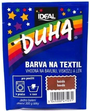 IDEAL Duha barva na textil hnědá 15g