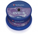 VERBATIM DVD+R 4,7GB 16x spindl 50ks