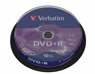 VERBATIM DVD+R 4,7GB 16x spindl 10ks
