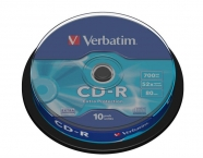 VERBATIM CD-R 700MB 52x spindle 10ks